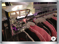 Chrome clothes racks